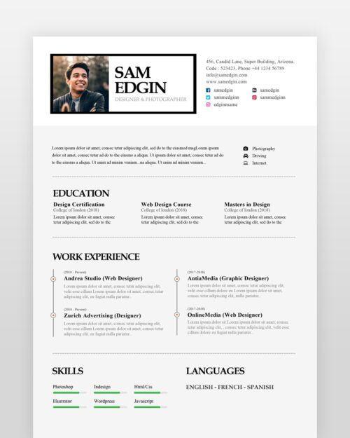 Graphic Designer Resume - by printableresumes.com