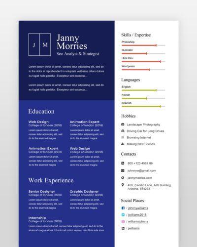 Graphic Designer Resume Template - by printableresumes.com