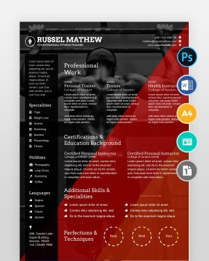 Gym-Trainer-Resume-Template2 - by printableresumes.com
