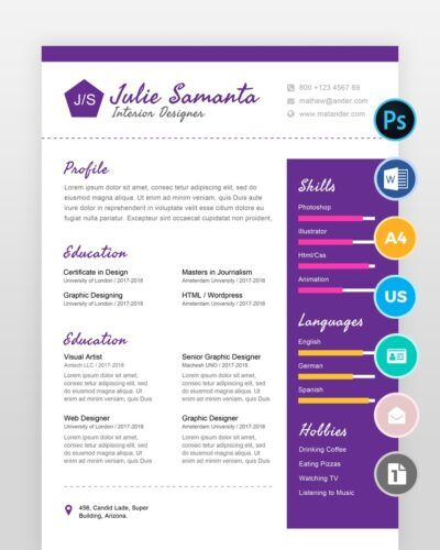 Interior-Designer-Resume-Template2 - by printableresumes.com