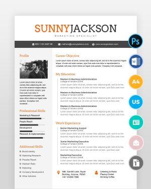 Marketing-Resume-Template2 - by printableresumes.com