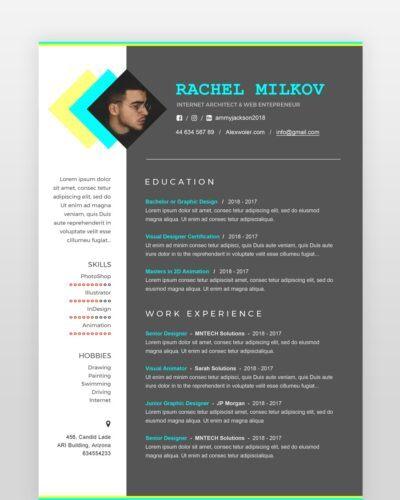 Minimal Designer Resume - by printableresumes.com