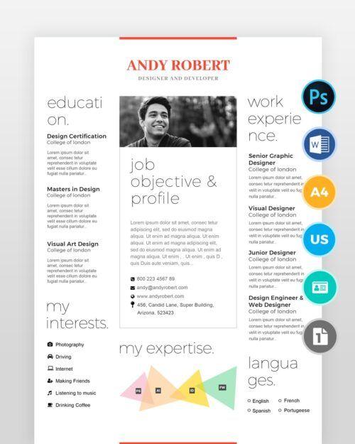 Minimal-Designer-Resume-Template2 - by printableresumes.com