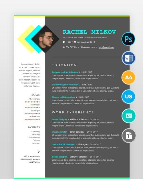 Minimal-Designer-Resume2 - by printableresumes.com