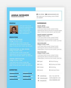 Minimal Resume Template - by printableresumes.com