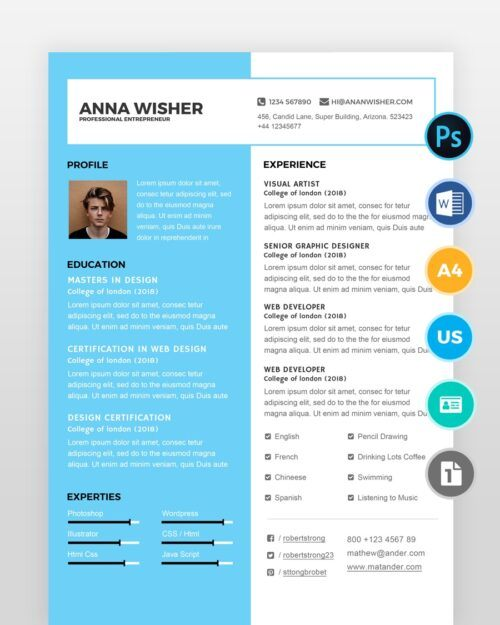 Minimal-Resume-Template2 - by printableresumes.com