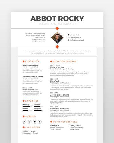 Minimalist Graphic Designer Resume - by printableresumes.com