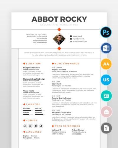 Minimalist-Graphic-Designer-Resume2 - by printableresumes.com