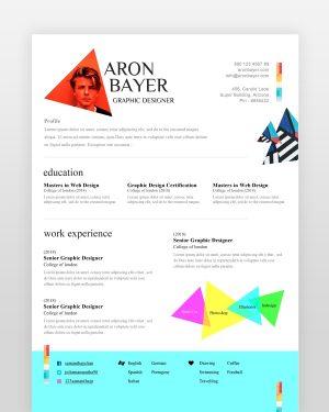 Minimalist Designer Resume Template - by printableresumes.com