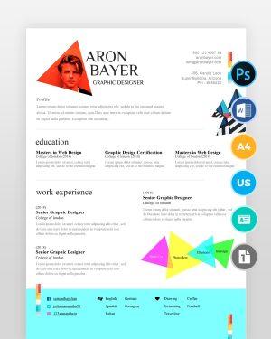 Minimalistic-Designer-Resume-Template2 - by printableresumes.com