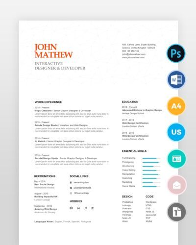 Modern-Graphic-Designer-Resume2 - by printableresumes.com