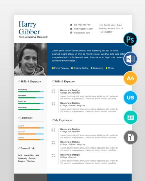 Modern-One-Page-Resume-Template2 - by printableresumes.com