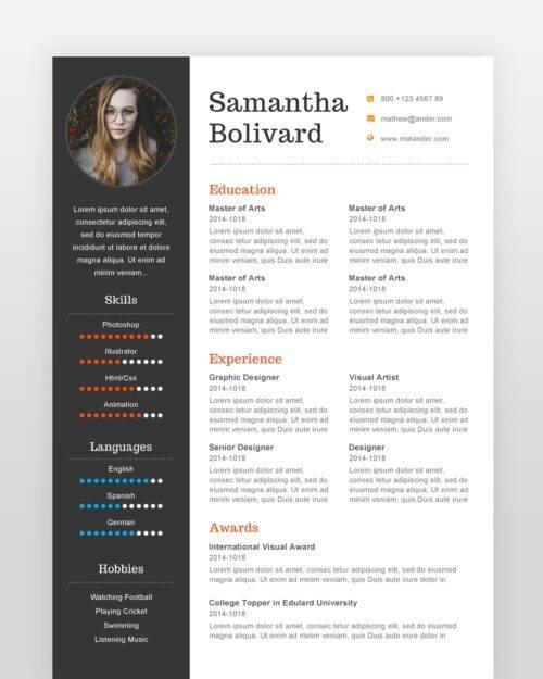 Modern Professional Designer Resume