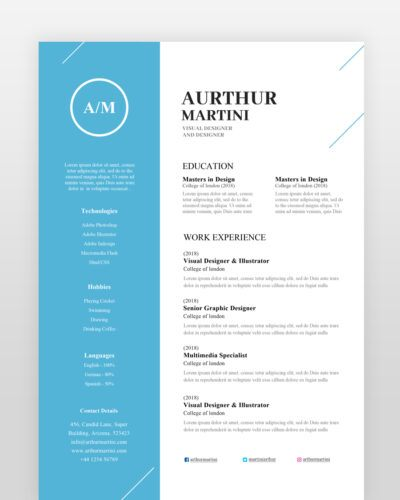 Modern Simple Designer Resume