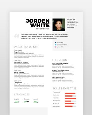 Modern and Simple Designer Resume - by printableresumes.com