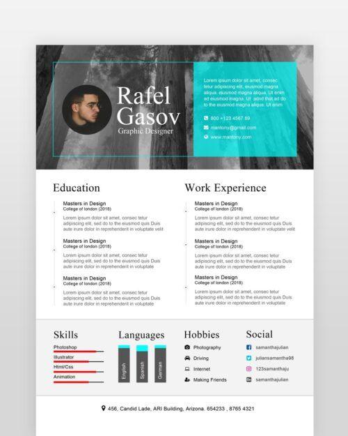 Multipurpose Clean Resume - by printableresumes.com