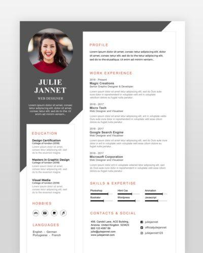 Multi Purpose Resume Template - by printableresumes.com