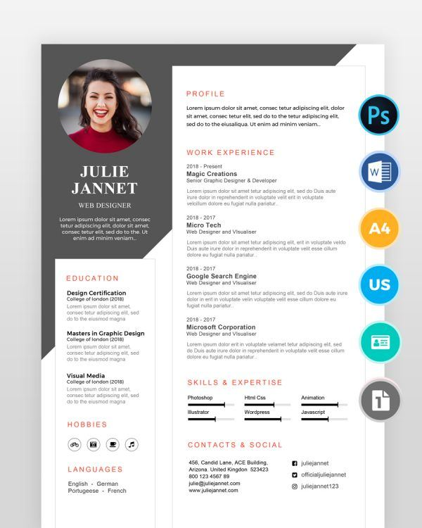 Multipurpose-Clean-Resume2 - by printableresumes.com