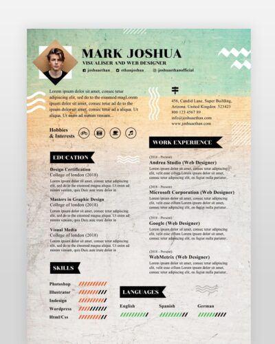 Newspaper Style Designer Resume - by printableresumes.com