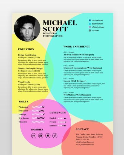 Old Style Designer Resume - by printableresumes.com