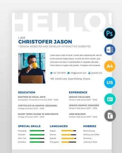 One-Page-Designer-Resume2 - by printableresumes.com