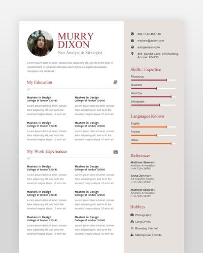 SEO Analyst Resume - by printableresumes.com
