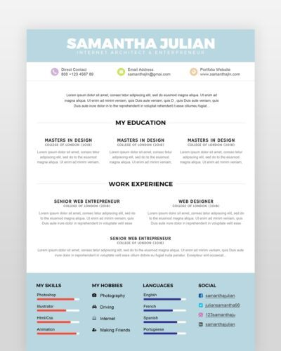 Simple Accountant Resume Template - by printableresumes.com