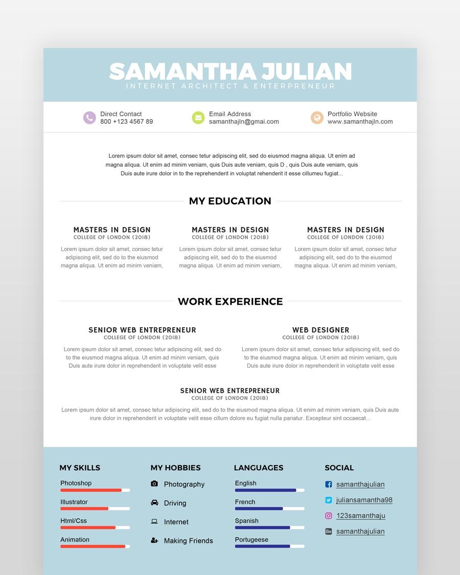 Simple Accountant Resume Template - by printableresumes.com