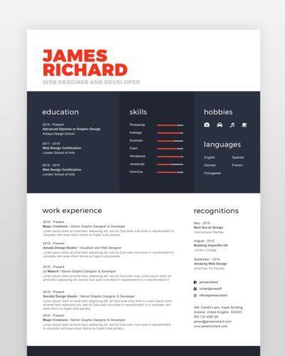 Simple Clean Designer Resume - by printableresumes.com