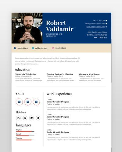 Simple Clean Resume Template - by printableresumes.com