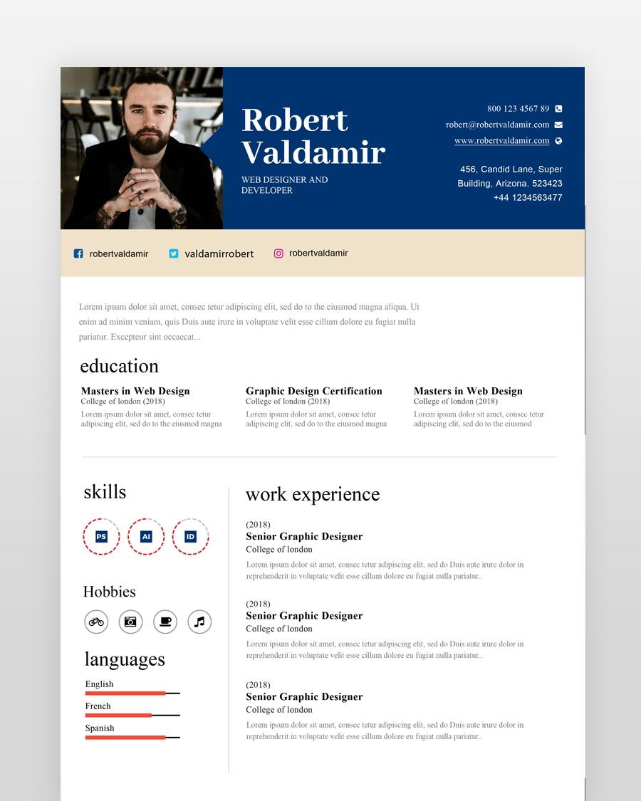 Simple Clean Resume Template - by printableresumes.com