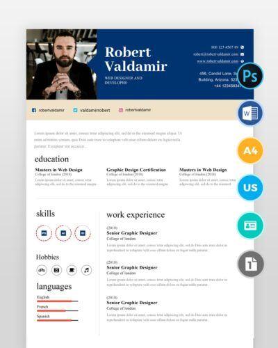 Simple-Clean-Resume-Template2 - by printableresumes.com