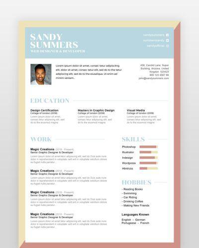 Simple Creative Designer Resume - by printableresumes.com