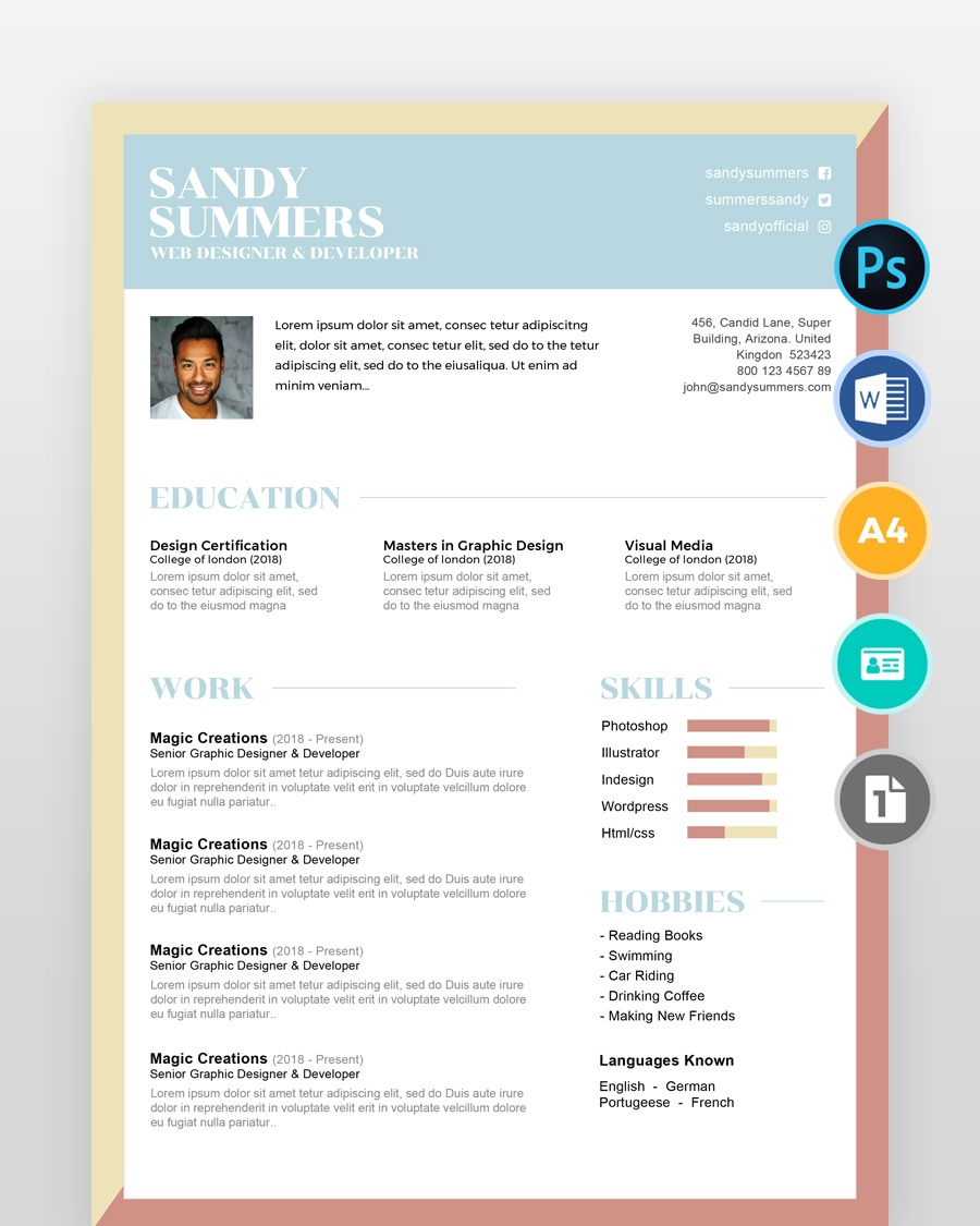 Simple-Creative-Designer-Resume2 - by printableresumes.com