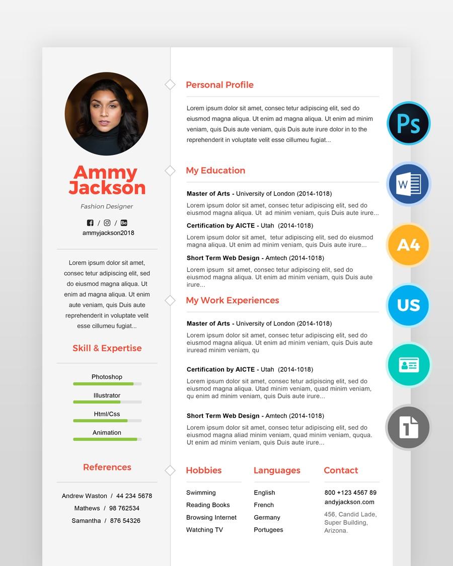 Simple-Designer-Resume-Template2 - by printableresumes.com