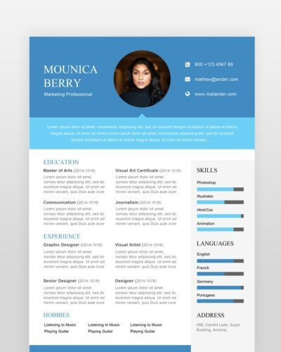 Marketing Professional Resume - by printableresumes.com