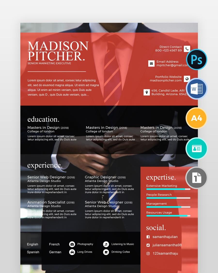 Simple-Marketing-Resume-Template2 - by printableresumes.com