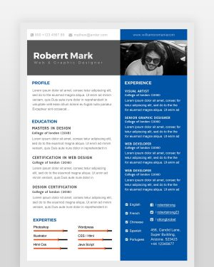 Multipurpose Resume Template - by printableresumes.com