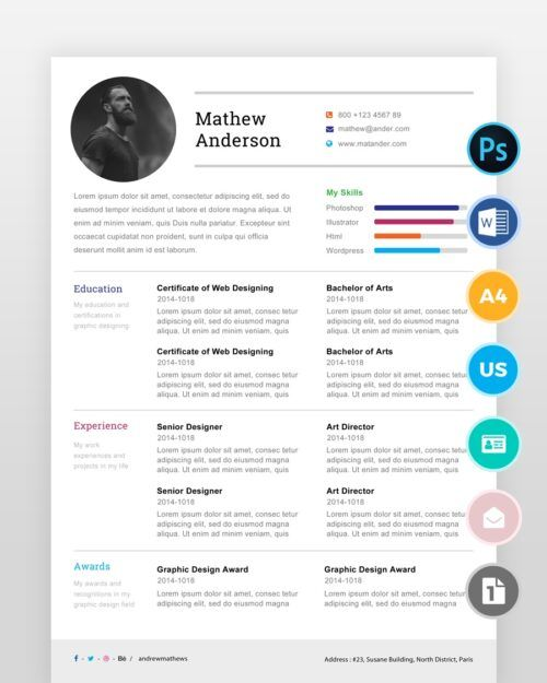 Simple-One-Page-Resume-Template2 - by printableresumes.com