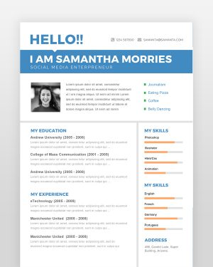 Simple and Clean Professional Resume - by printableresumes.com
