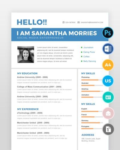 Simple-and-Clean-Professional-Resume2 - by printableresumes.com