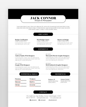 Simple and Clean Resume Template - by printableresumes.com