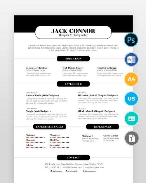 Simple-and-Clean-Resume-Template2 - by printableresumes.com
