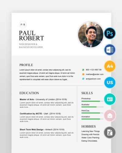 Simple-Clean-Designer-Resume2 - by printableresumes.com