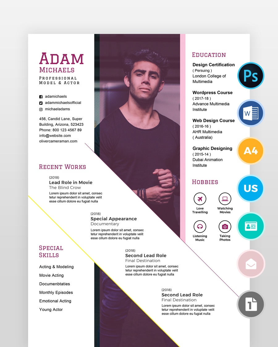 Actor-Model-Resume - by printableresumes.com