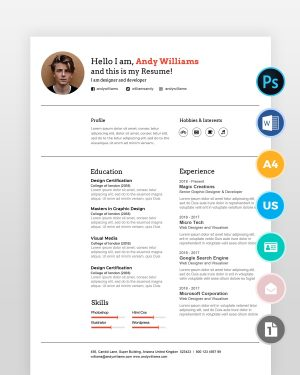 Clean-Professional-Designer-Resume_ - by printableresumes.com