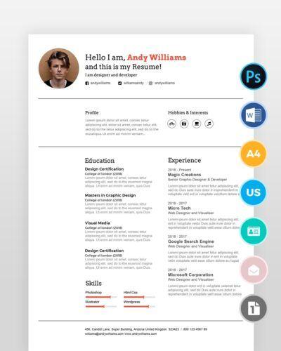 Clean-Professional-Designer-Resume_ - by printableresumes.com