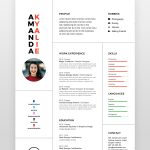 Clean Professional Minimal Resume - by printableresumes.com
