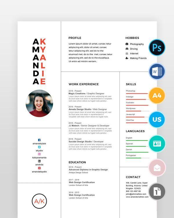 Clean-Professional-Minimal-Resume - by printableresumes.com