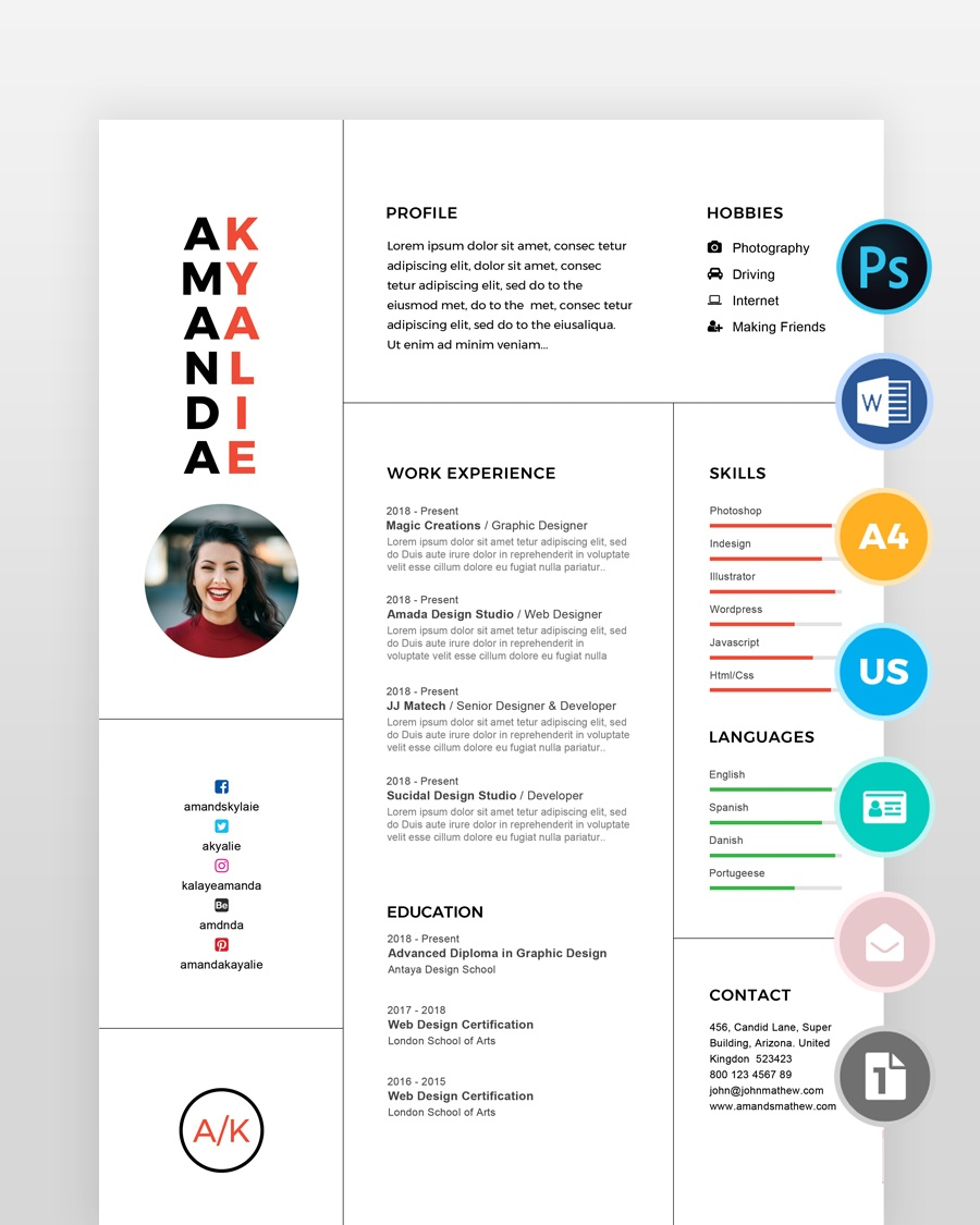 Clean-Professional-Minimal-Resume - by printableresumes.com